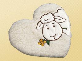 Herz Wollflor mit Stickerei