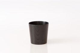 木のコップ 漆黒