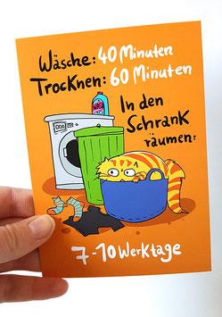 "Postkarte ""Wäsche"", Format: DinA6"