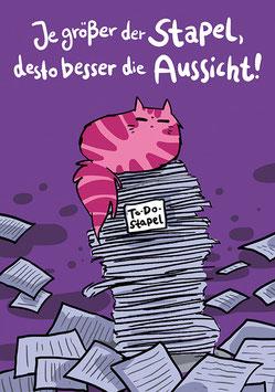 """Postkarte """"Aussicht"""", Format: DinA6"""