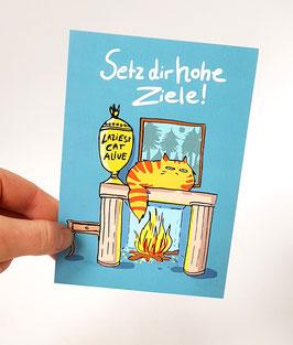 "Postkarte ""Setz dir hohe Ziele..."", Fomat: DinA6"