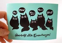 "Postkarte ""Erwartungen"", Format: DinA6"