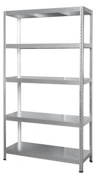Metall-Steckregal verzinkt 100 x 40 cm