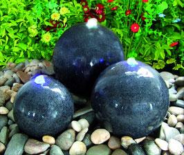Granit Brunnen dunkel mit LED-Beleuchtung