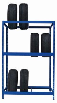 Reifenregal blau für max. 12 Reifen