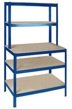 Werkstattregal blau pulverbeschichtet