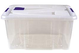 5 Stück Aufbewahrungsbox mit Deckel und Lüftungsklappe 62 cm