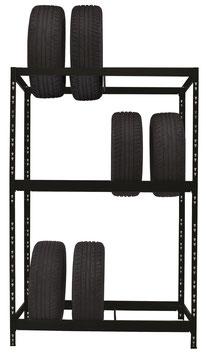 Reifenregal schwarz für max. 12 Reifen
