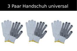 3 Paar Handschuhe universal einsetzbar