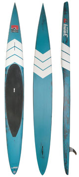 3 BAY PRONE PADDLE DW 14' x 19.5'' - Brush Carbon Turquoise n° 2
