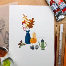 WORKSHOP - Sweater Weather Illustratie tijdens Creative Life 2021