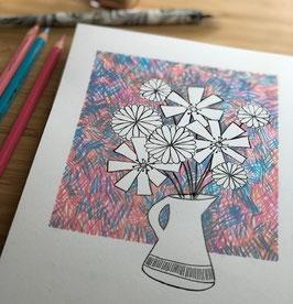 De Tekentafel - Eigen Tempo -  Thema Bloemen