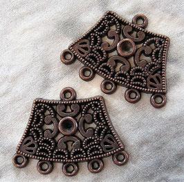 Ohrringe Kupfer mit 5 Ösen