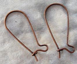 Kidney Ohrringe Kupfer 25 mm