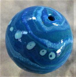 Fimoperlen Extruder Blau Gestreift