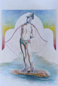 Originalzeichnung/Original Drawing The Holy Hot Sebastian , 2021