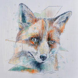 "Postkarte/Postcard ""Der Fuchs""/""The Fox"""