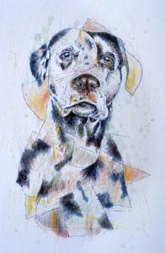 """Originalzeichnung/Original Drawing """"Der Hund/The Dog"""", 2020"""