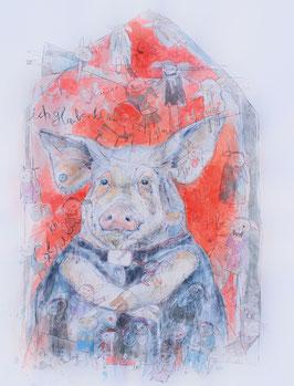 """Grafikdruck/Graphic print """"Schweinepriester"""""""