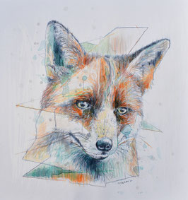 "Kunstdruck/Art Print ""Der Fuchs"" (Limited Edition) 2021"