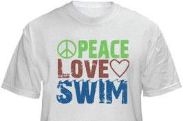 """T-Shirt """"Peace-Love-Swim"""""""