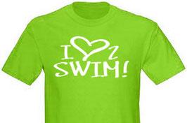 """T-Shirt """"I love to swim"""""""