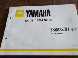 Yamaha FS 80 SE Baujahr 1981   - Teile- Liste