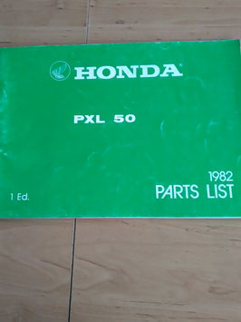 Honda PXL 50 - Parts List