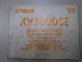Yamaha XV 1000 SE- originale ergänzung zur  Wartungsanleitung
