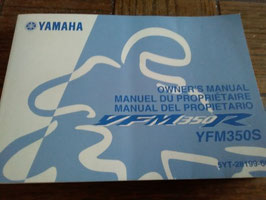 Yamaha YFM 350 S   - originale Bedienungsanleitung