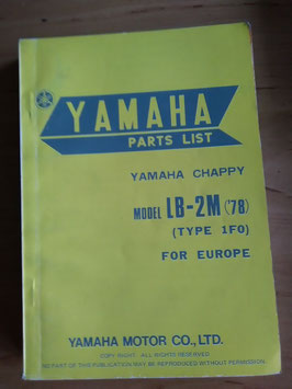 Yamaha LB50 II AM  (Bj 76)  Type 1F0- Chappy- Parts-List
