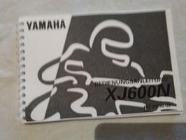 Yamaha XJ 600 N -  originale Bedienungsanleitung