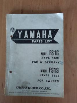 Yamaha FS 1G ('78) Type: 468 - Parts-List