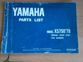 Yamaha XS 750 ('79) - Type: 3G9  - Parts-List