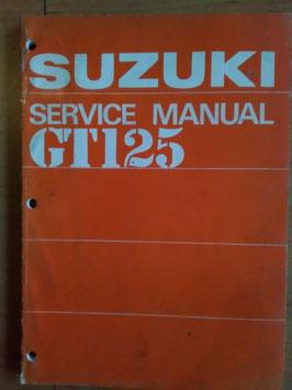 Suzuki GT 125- originales Werkstatt- Handbuch