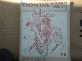 Honda Oldtimer Teile- Katalog - CR 125 M / Elsinore