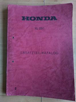 Honda XL 250 - Ersatzteile-Katalog