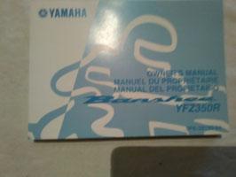 Yamaha YFZ 350 R – originale Bedienungsanleitung