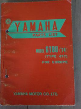 Yamaha GT 80 ('74) Type: 477 - Parts-List