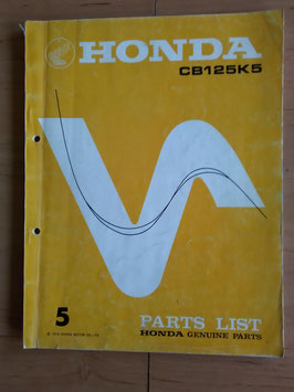 Honda CB 125 K5 - Parts - List