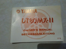 Yamaha DT 80 MX-II – originale Bedienungsanleitung