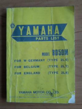 Yamaha RD 50M Type: 2L4 - Parts-List