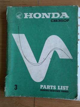 Honda CB 350 Four -  Parts- List - Ersatzteile-Katalog