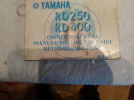 Yamaha RD 250/400 -  originale Betriebsanleitung