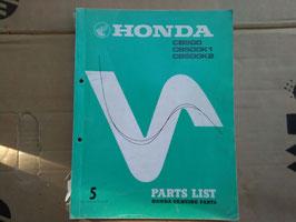 Honda CB 500 / CB 500 K1 / CB 500 K2 - Oldtimer Parts- List