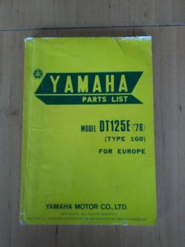 Yamaha DT125E ('78) Type: 1G0 - Parts-List