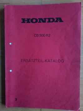 Honda CB 500 K2 - Ersatzteile-Katalog