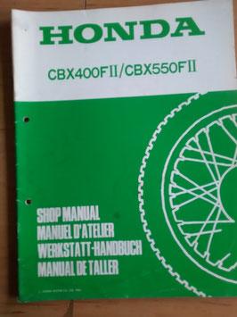 Honda CBX 400 FII/ CBX 550 FII -  Werkstatt-Zusatz-Handbuch