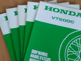 Honda VT 600 C -  Werkstatt - Zusatz - Handbuch im Paket