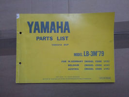 Yamaha LB- 3M (Bj 79)  Type 1V3 - BOP - Parts-List